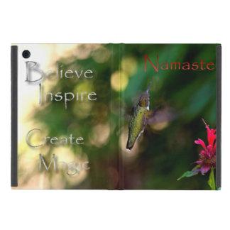 Namaste Hummingbird Photograph Inspirational iPad Mini Covers