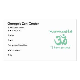 Namaste - I bow to you Business Card