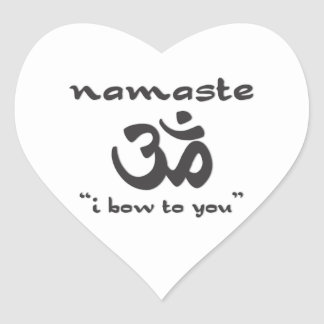 Namaste - I Bow To You Heart Sticker