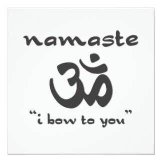Namaste - I bow to you (in black) Card