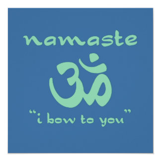 Namaste - I bow to you (in green) Card