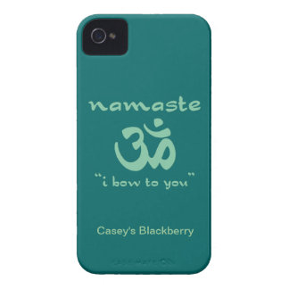 Namaste - I bow to you in green Blackberry Bold Cases