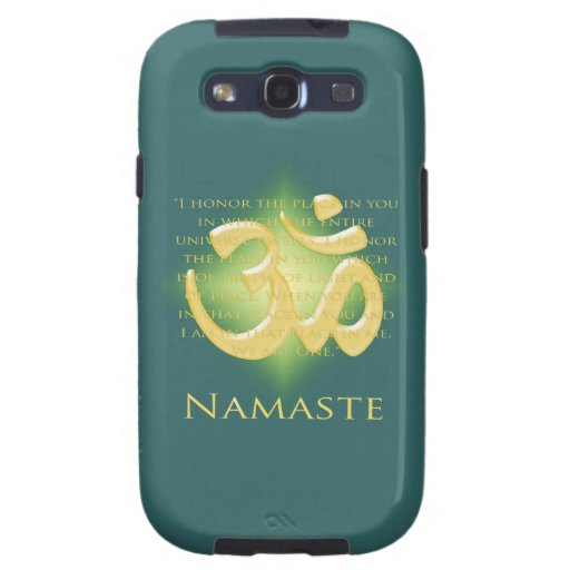 Namaste - I bow to you (in green) Samsung Galaxy SIII Cover