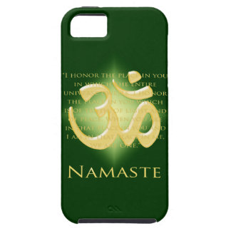 Namaste - I bow to you in green iPhone 5 Cases