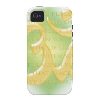 Namaste - I bow to you in green iPhone 4 Case