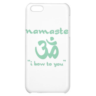 Namaste - I bow to you in green iPhone 5C Case