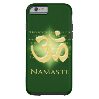 Namaste - I bow to you in green iPhone 6 Case