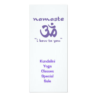 Namaste - I bow to you (in purple) Card