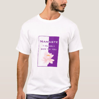 Namaste - I humbly bow to you (purple) T-Shirt
