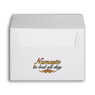 Namaste In Bed All Day Envelope