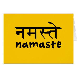 Namaste in English and Hindi Card