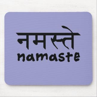 Namaste in English and Hindi Mouse Pad