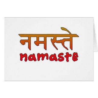 Namaste in English and Hindi Script Card