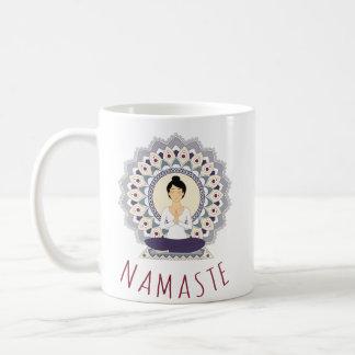 Namaste in Lotus Pose - Yoga Asana Woman Mug