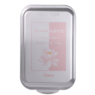 Namaste in Pink Cake Pan