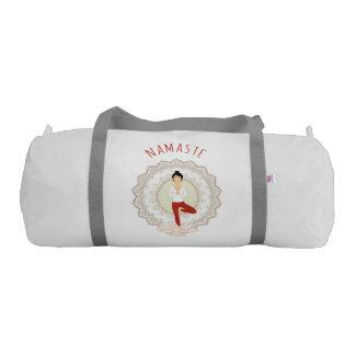 Namaste in Tree Pose - Yoga Asana Woman sport bag