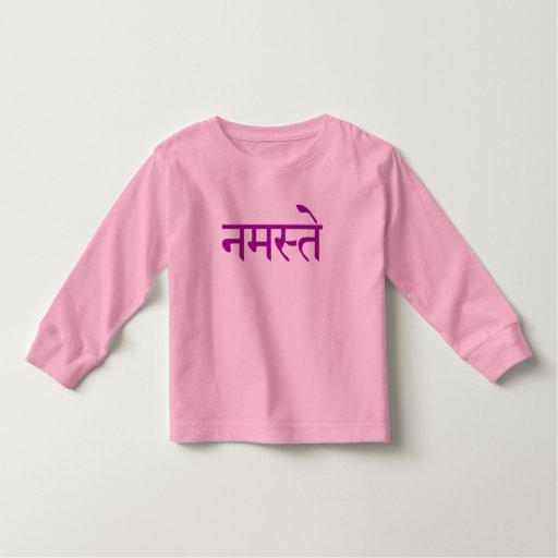 Namaste Long Sleeve Toddler Toddler T-shirt