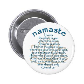 Namaste Lotus 2 Inch Round Button