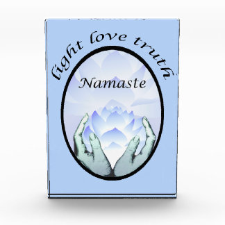 Namaste Lotus Blossom Light Love Truth Acrylic Award