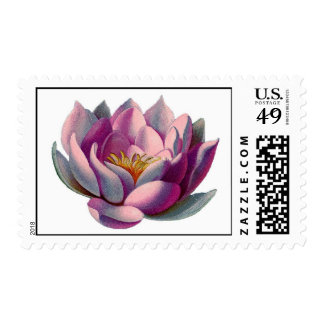 Namaste Lotus Blossom Postage Stamps