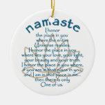 Namaste Lotus Double-Sided Ceramic Round Christmas Ornament