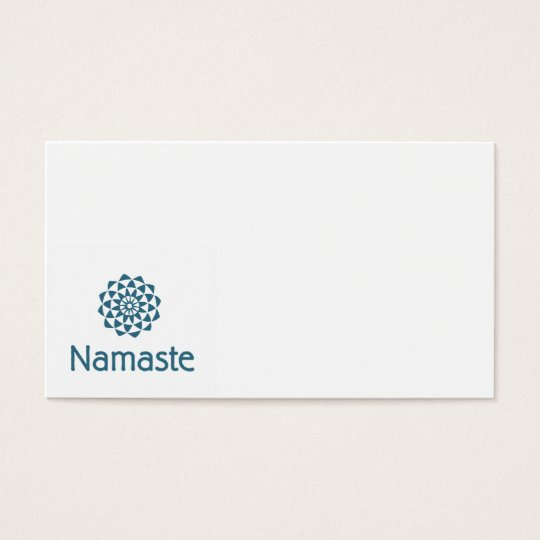 Namaste Lotus Flower Business Card