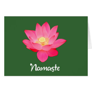 Namaste Lotus Flower Design gifts Card