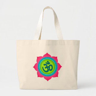 Namaste Lotus Flower Om Yoga Large Tote Bag