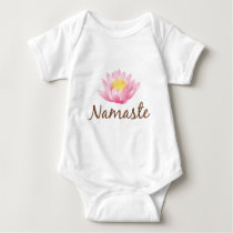 Namaste Lotus Flower Yoga Baby Bodysuit