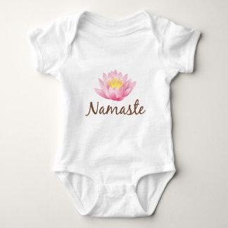 Namaste Lotus Flower Yoga Baby Bodysuit
