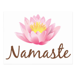 Namaste lotus flower yoga postcards zazzle namaste lotus flower yoga postcard mightylinksfo