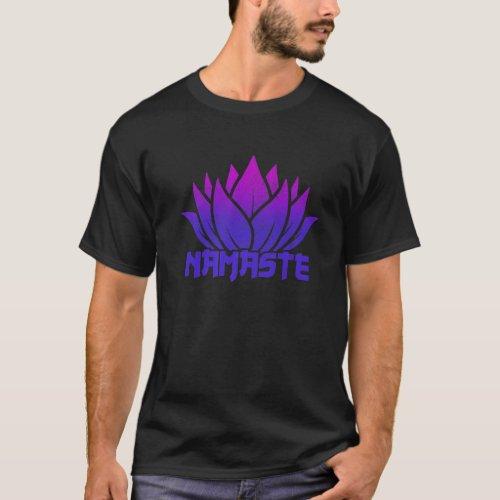 Namaste Lotus Flower Yoga Yogi Gift T_Shirt