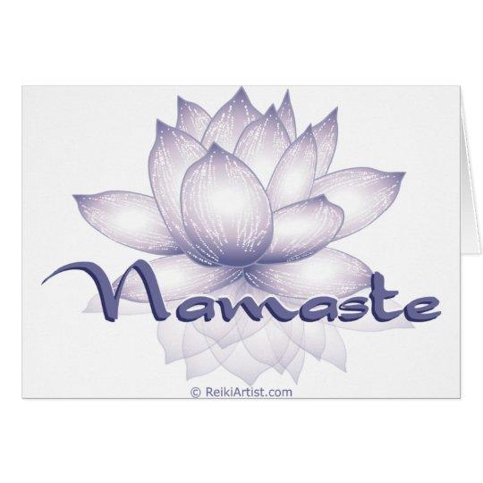 Namaste Lotus Lavender Card