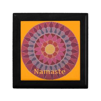 Namaste  Lotus Mandala YOGA INSPIRED Jewelry Box