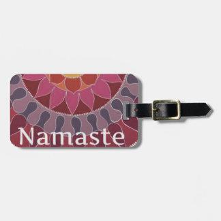 Namaste  Lotus Mandala YOGA INSPIRED Tags For Luggage