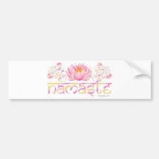 Namaste lotus new bumper stickers