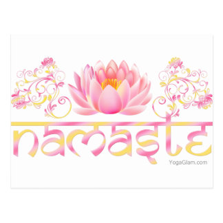 Namaste lotus new postcard