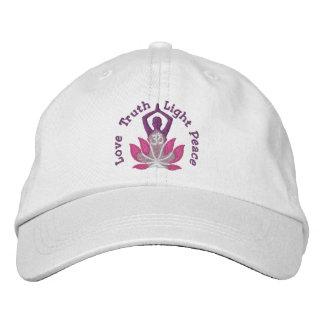 Namaste Lotus Om Yoga Pose Embroidered Cap