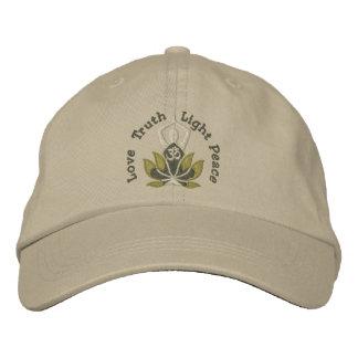 Namaste Lotus Om Yoga Pose Embroidered Embroidered Baseball Cap