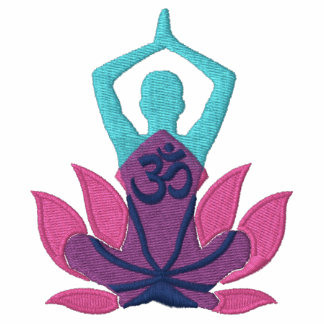 Namaste Lotus Om Yoga Pose Embroidery Embroidered Track Jackets