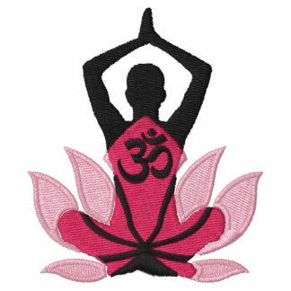 Namaste Lotus Om Yoga Pose Embroidery Embroidered Jacket