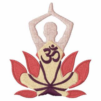 Namaste Lotus Om Yoga Pose Embroidery Jacket