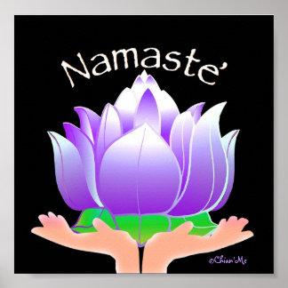 Namaste Lotus Posters