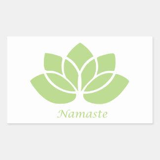 Namaste Lotus Rectangular Pegatina