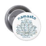 Namaste Lotus Pin Redondo De 2 Pulgadas