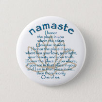 Namaste Lotus Pinback Button