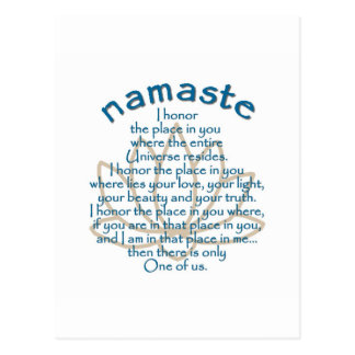 Namaste Lotus Postcard