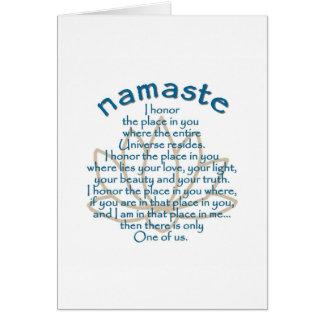 Namaste Lotus Tarjetas