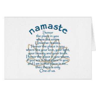 Namaste Lotus Tarjeta De Felicitación