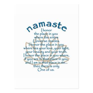 Namaste Lotus Tarjetas Postales